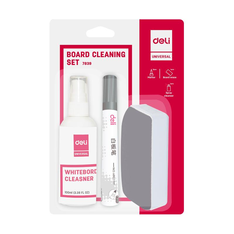 Deli 7839 Whiteboard Cleaning Set