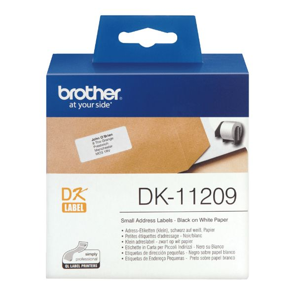 Brother DK-11209 Small Address Labels 29mm x 62mm - White (800/roll)