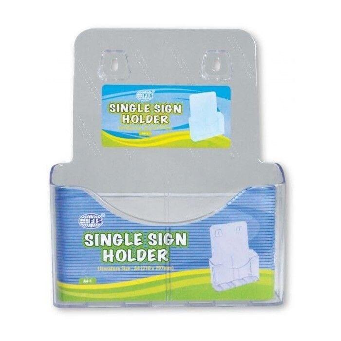 FIS Transparent Sign Holder A4 Single Layer FSNAA4-1 (pc)