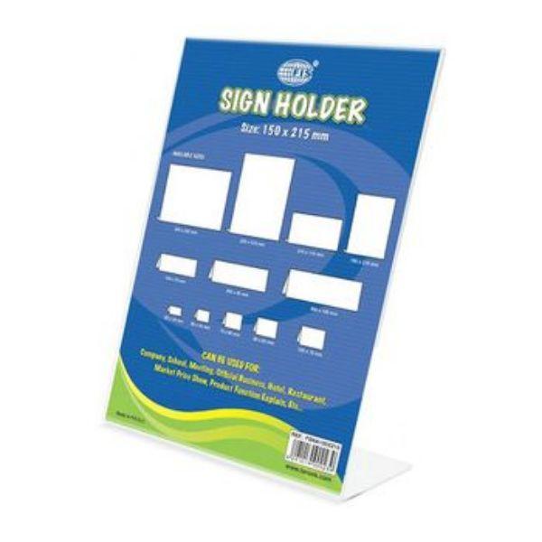 FIS L-Shape Sign Holder Upright 150 x 215mm - FSNA150X215 (pc)