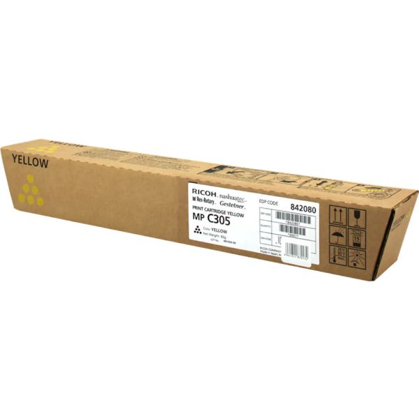 Ricoh MP C305 Toner Cartridge - Yellow