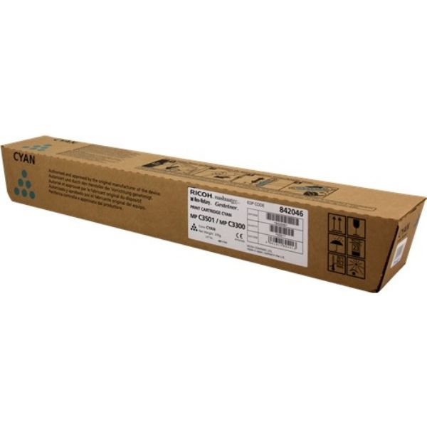 Ricoh MP C3501 / MP C3300 (842046) Toner Cartridge - Cyan