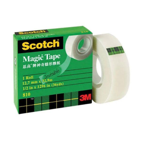 3M Scotch 810 Magic Tape - 1/2in x 36yds / 12.7mmx32.9m (pc)