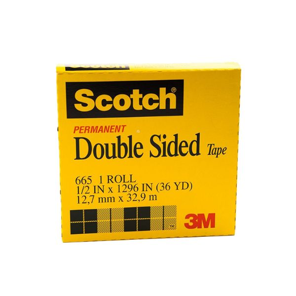 3M Scotch 665 Permanent Double sided tape 12.7mmx32.9m (pc)