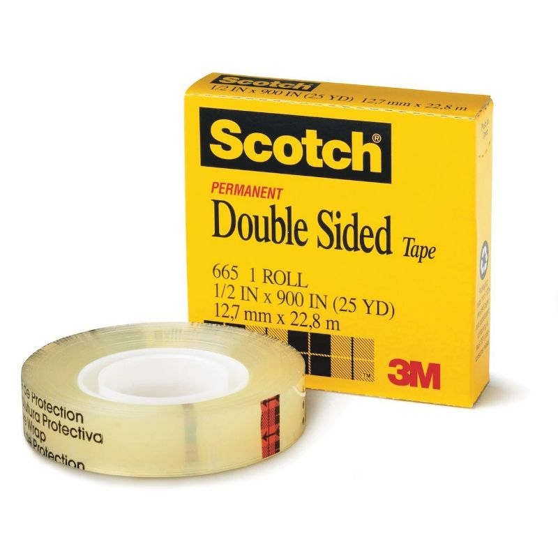 3M Scotch 665 Double Sided Tape 12.7mmx22.8m - (pc)