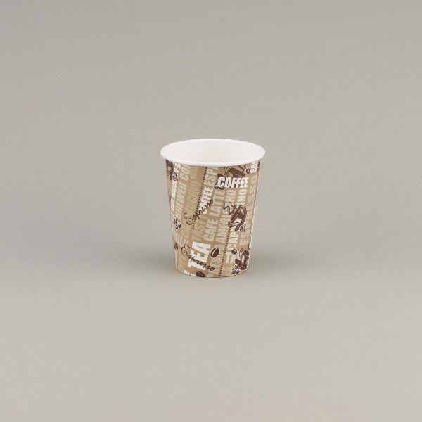 Hotpack Printed Single Wall Paper Cup PHDC8 - 8oz (pkt/50pcs)