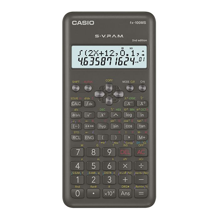 Casio FX-100MS 2nd Edition Scientific Calculator - 2 Line Display