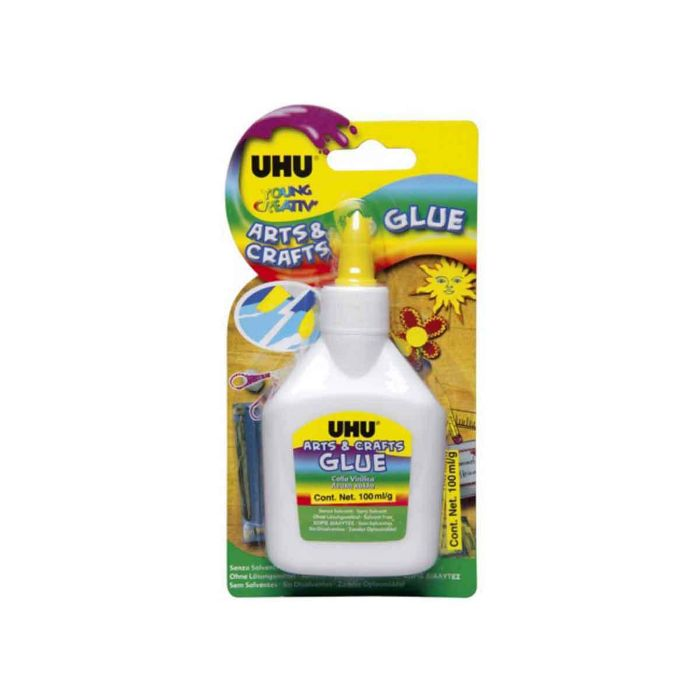 UHU Arts & Crafts White Glue Blister Pack - 100ml (pc)