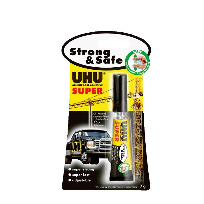 UHU Super Strong & Safe All Purpose Adhesive - 7gm (pc)