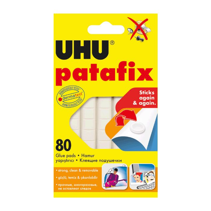 UHU Patafix Removable White Glue Pads - 80 Pads