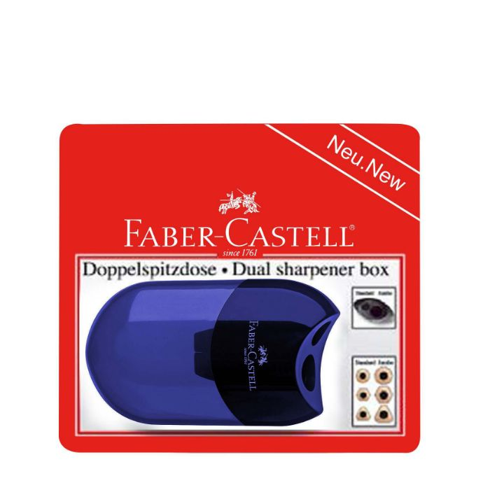 Faber Castell Dual Sharpener Apple Assorted Color (pc)