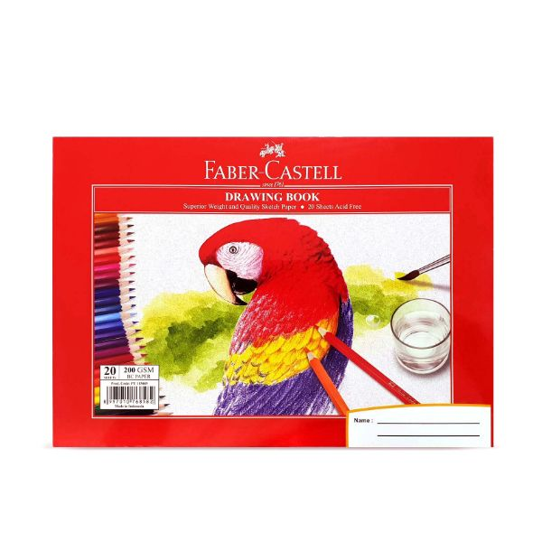 Faber Castell Drawing Book 200gsm 20 Sheets - A4 (pc)