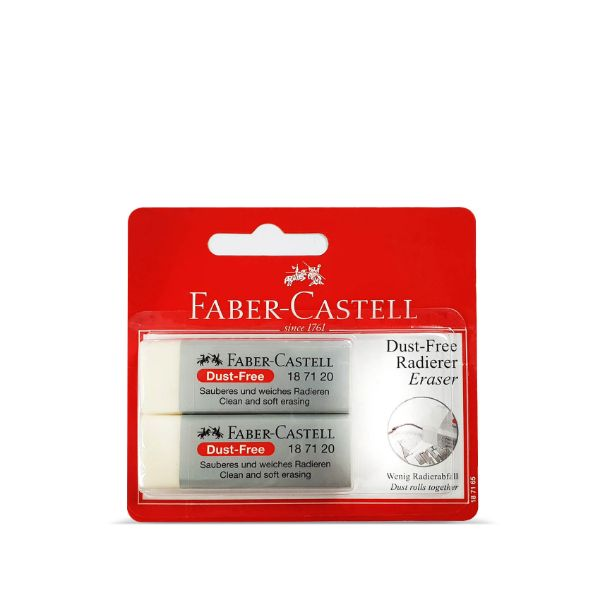 Faber Castell 187165 Dust Free Eraser With Sleeves (pkt/2pcs)