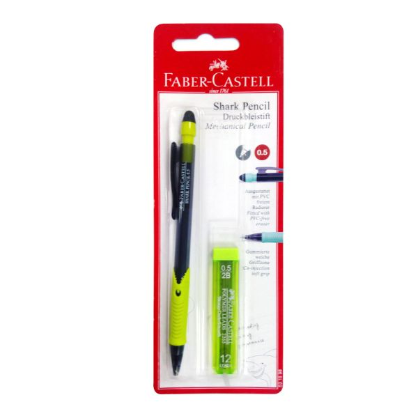 Faber Castell Shark Pencil 0.5mm 1pc + 1 2B Lead Tube (pc)