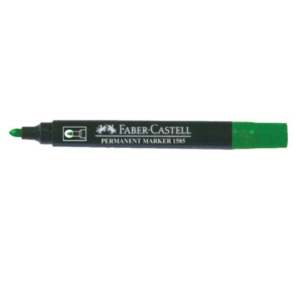 Faber Castell 1585 Permanent Marker Fine - Green (pkt/12pcs)