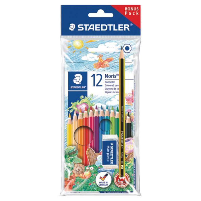 Staedtler 144Nc 12 + Noris + Mini Eraser Promo Pack