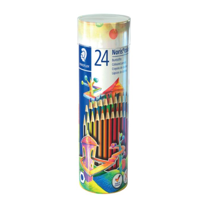 Staedtler 144 NMT Noris 24 Coloured Pencil Cylinder (pkt/24pcs)