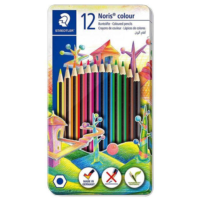 Staedtler Noris 12 Coloured Pencils Metal Set (pkt/12pcs)