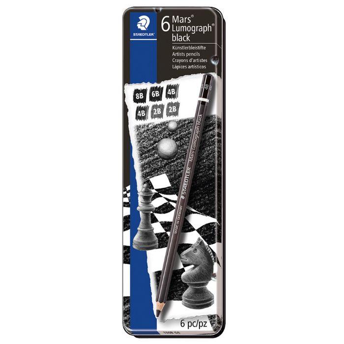 Staedtler ST100B-G06 Mars Lumograph Pencil - Black (pkt/6pcs)