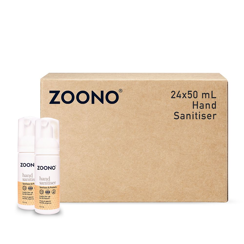 Zoono Z-HS50mLx24 Germ Free 24 Hand Sanitiser and Protectant 24 Hour Protection - 50ml x 24