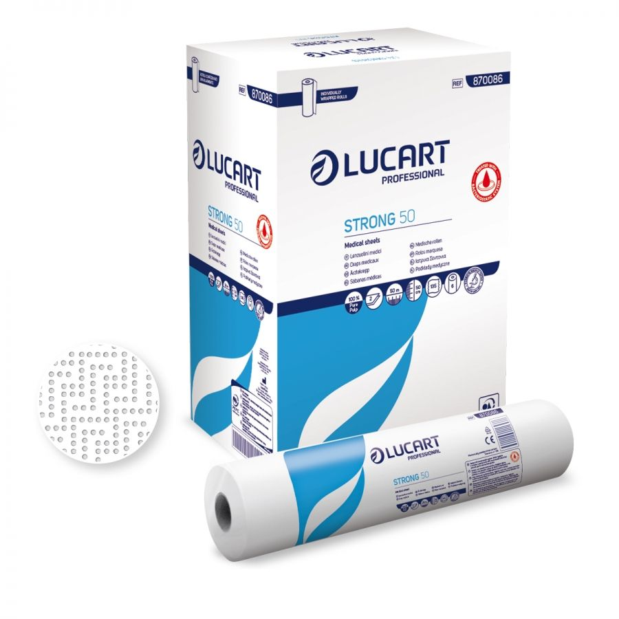 Lucart TS20 Bed Sheets 20 2-ply 135 sheets x 50m (box/6rolls)