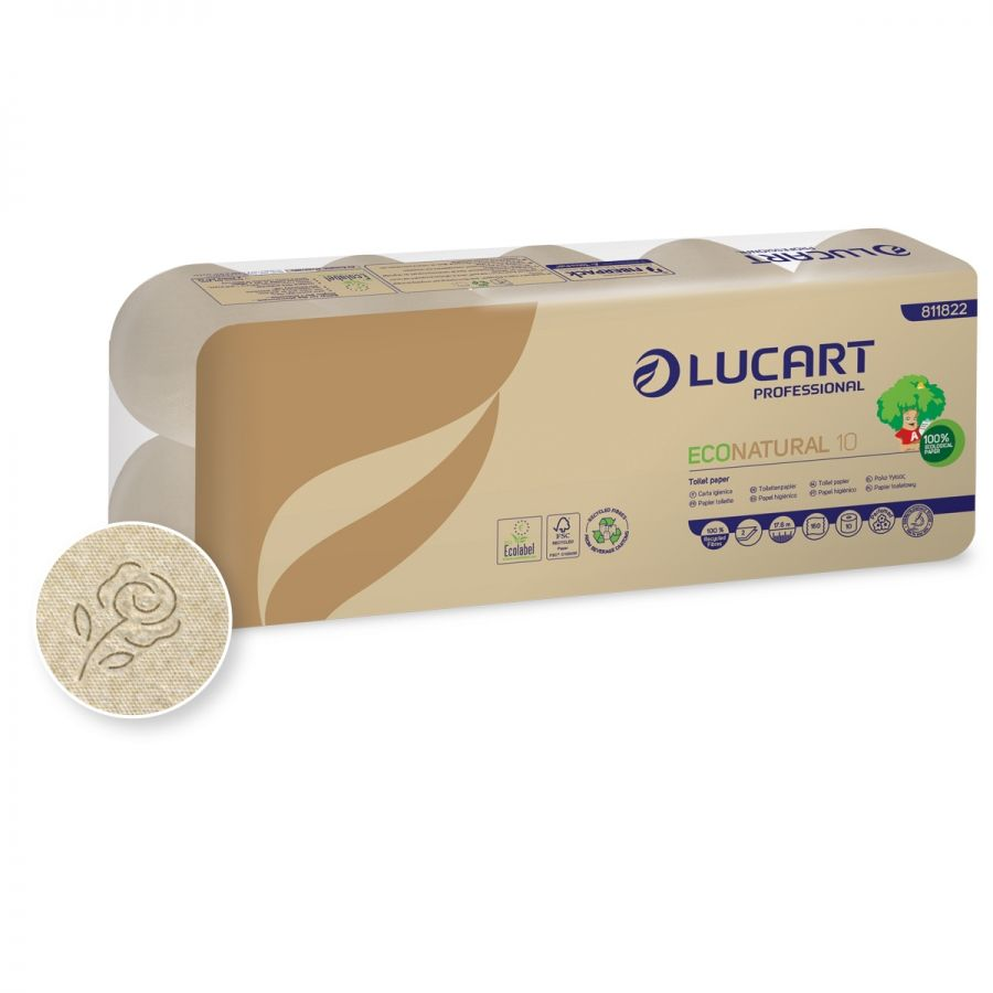 Lucart TS34 Brown Toilet Roll 34 2-ply 180 sheets - Brown (box/120rolls)