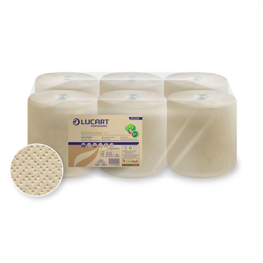 Lucart TS30 Econatural Maxi Roll Paper 30 2-ply 450 sheets x 135m - Brown (box/6rolls)