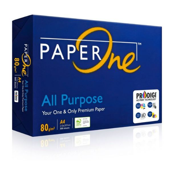 Paper One All Purpose Paper 80gsm - A4 (box/5rm)
