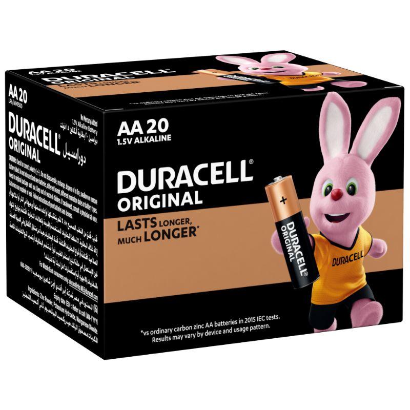 Duracell Original AA 1.5V Alkaline Battery (box/20pcs)