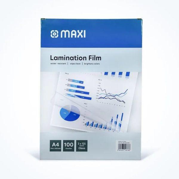 Maxi Laminating Film 125 microns - A4 (pkt/100pcs)