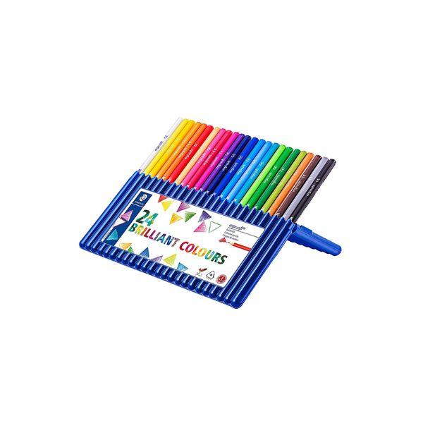 Staedtler 157 SB24 Ergosoft Coloured Pencils Set - Assorted (pkt/24pcs)
