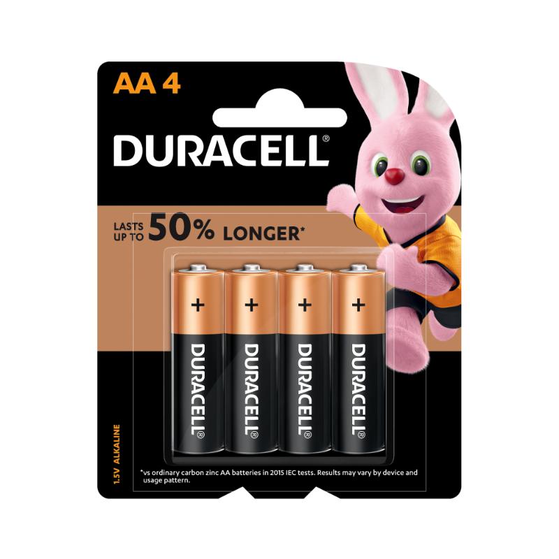 Duracell AA Alkaline Batteries (pkt/4pc)
