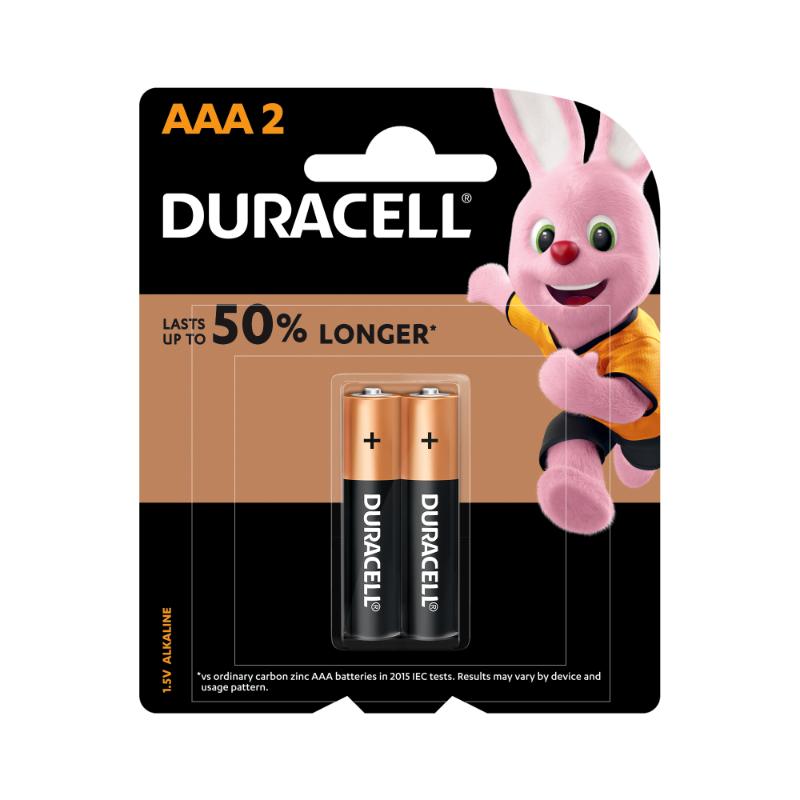 Duracell AAA Alkaline Batteries (pkt/2pc)