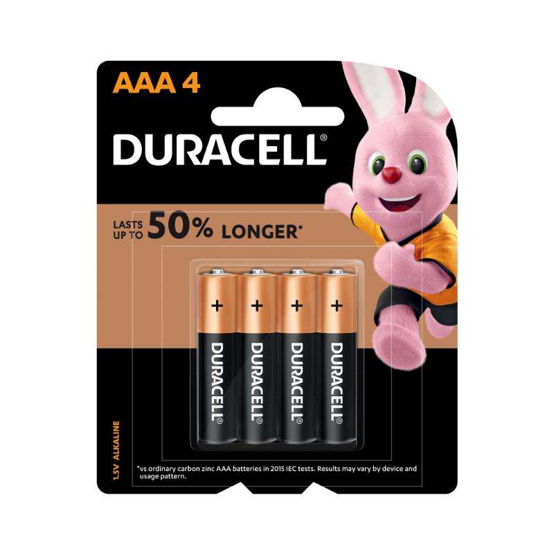 Duracell AAA Alkaline Batteries (pkt/4pc)