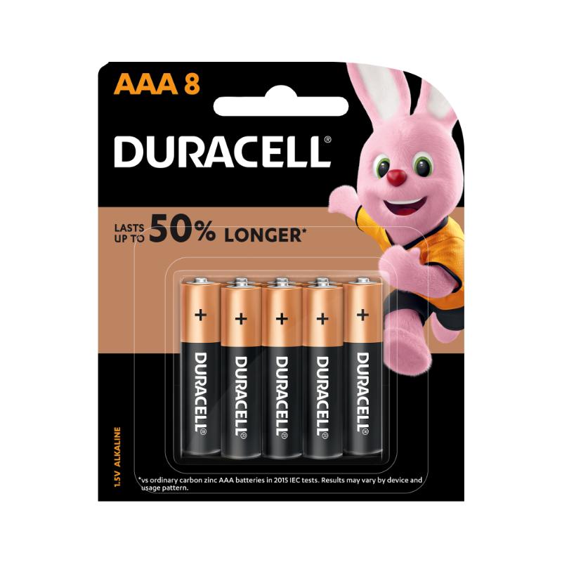 Duracell AAA Alkaline Batteries (pkt/8pc)