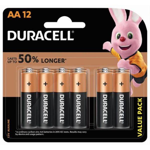Duracell AA Alkaline Batteries (pkt/12pc)