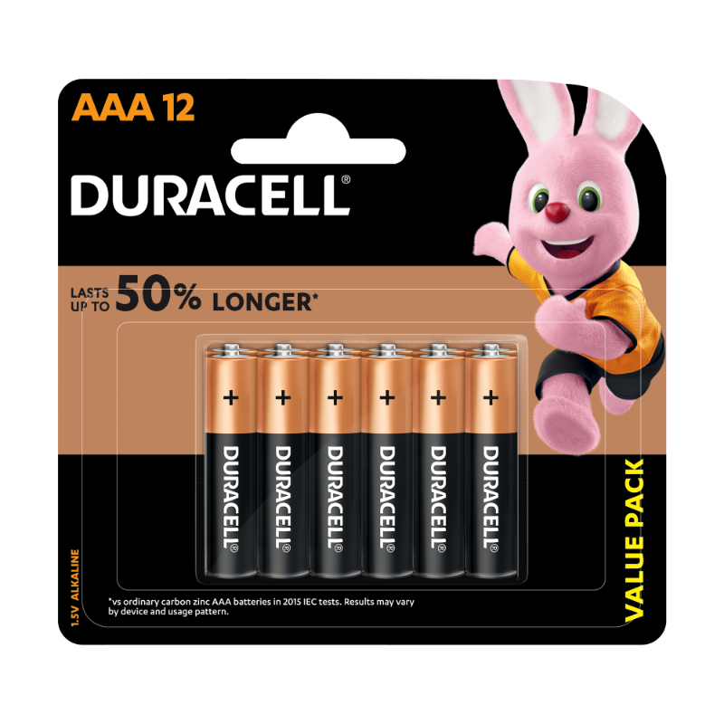 Duracell AAA Alkaline Batteries (pkt/12pc)