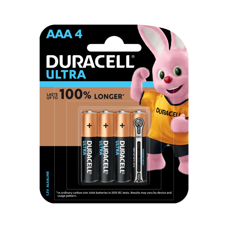 Duracell Ultra AAA Alkaline Batteries (pkt/4pc)