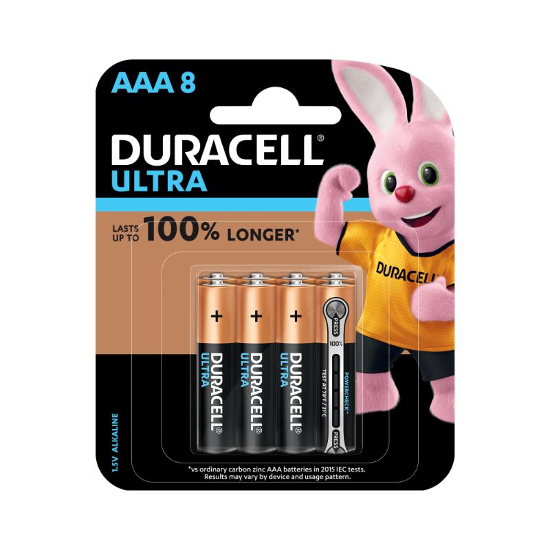 Duracell Ultra AAA Alkaline Batteries (pkt/8pc)
