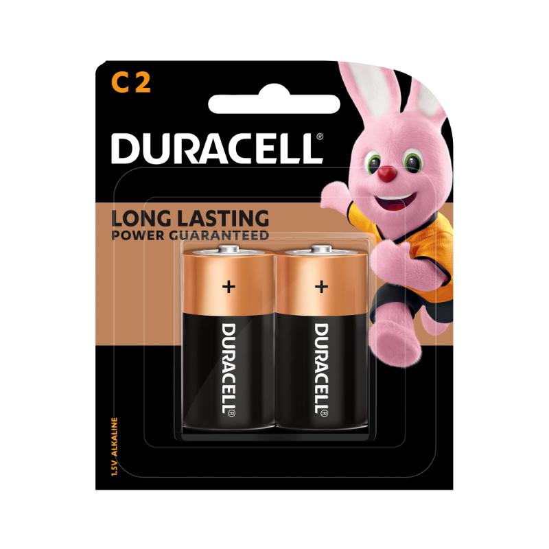 Duracell Type C Batteries (pkt/2pc)
