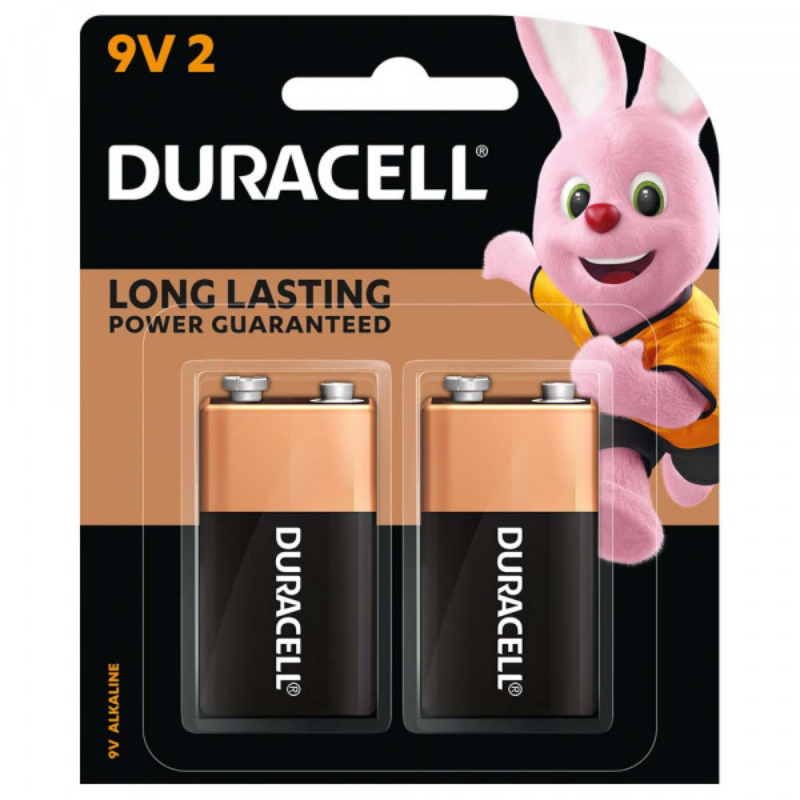 Duracell 9V Batteries (pkt/2pc)