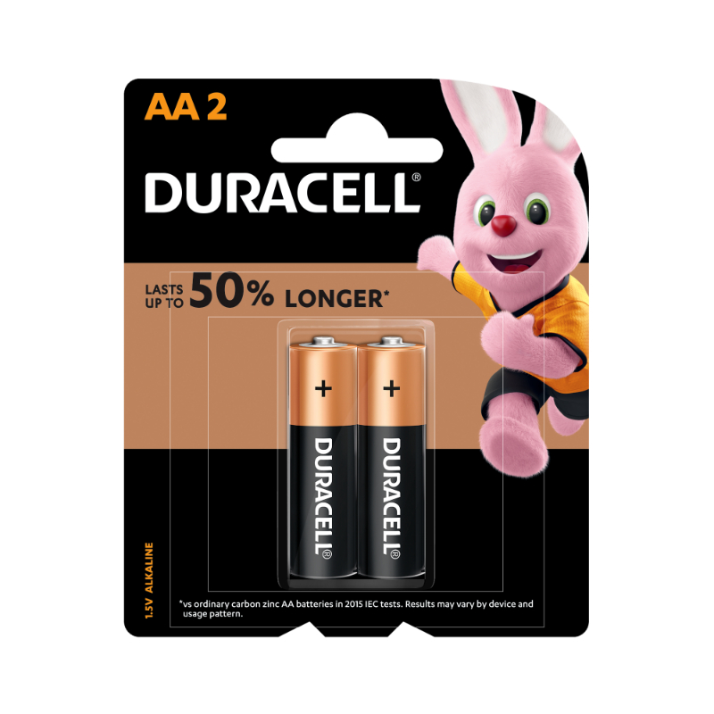 Duracell AA Alkaline Batteries (pkt/2pc)