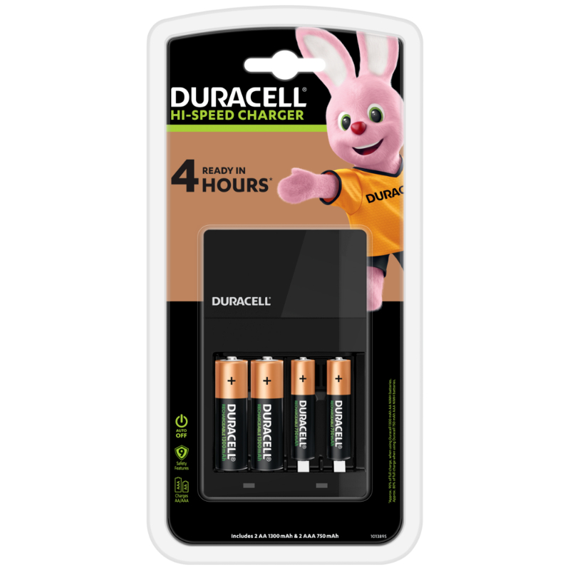 Duracell 4-Hour Charger with 2 AA Battery (pc)