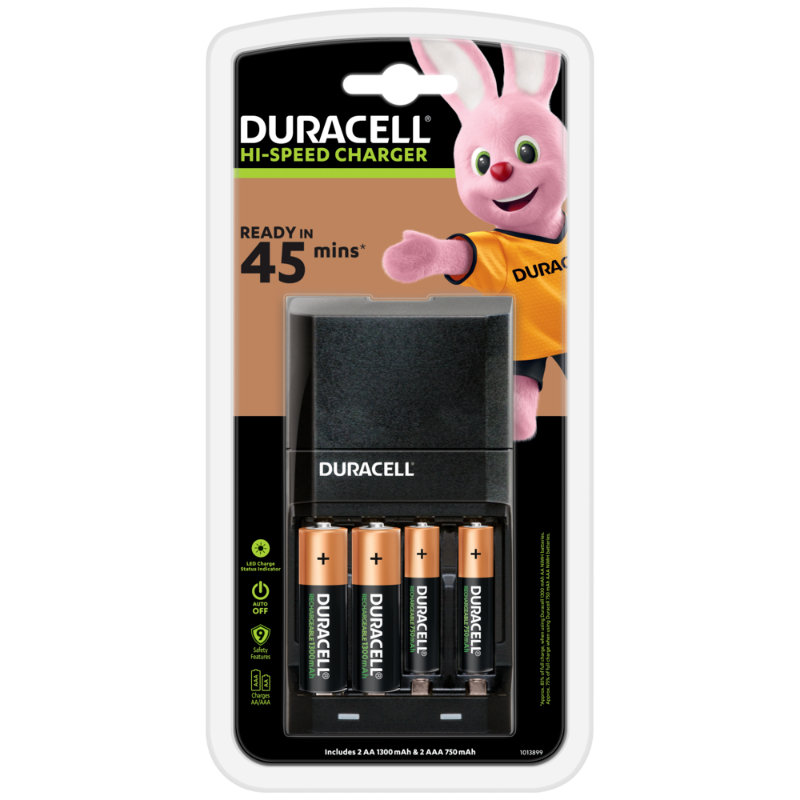 Duracell 45mins Charger with 2 AA & 2 AAA Battery (pc)