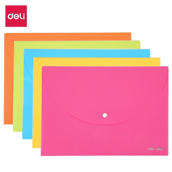 Deli E38131 Rio File Bag Snap A4 - Blue (pc)