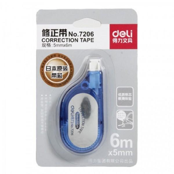 Deli 7206 Correction Tape - 5mm x 6m (box/24pcs)