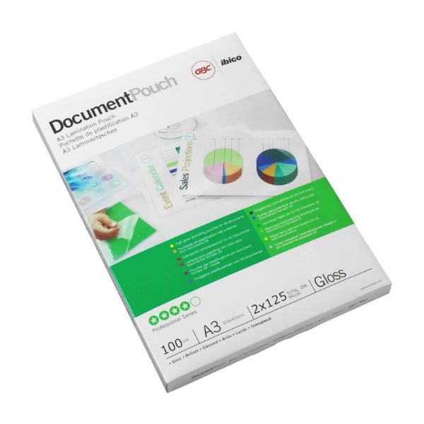 GBC 3200725 Laminating Pouch Gloss 125microns - A3 (pkt/100pcs)