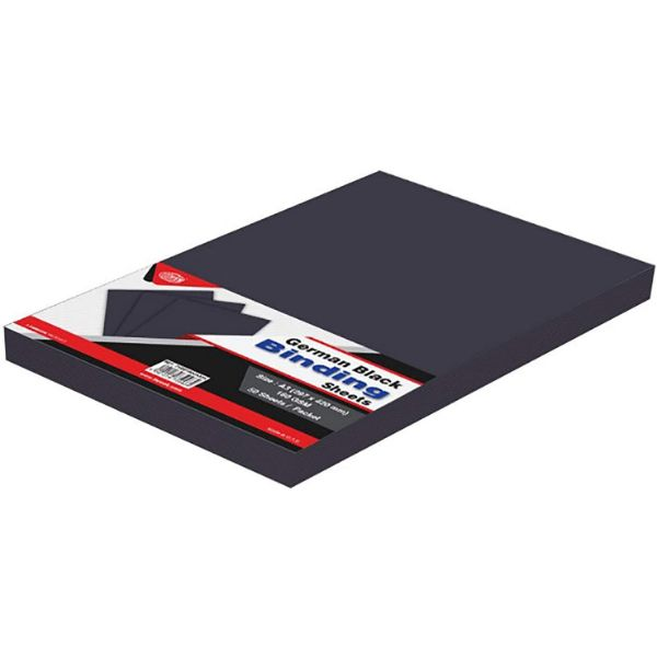 FIS Binding Sheet 180gsm A4 FSBD180GA4BK - German Black (pkt/100s)