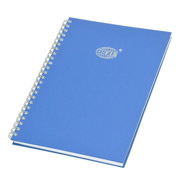 FIS FSMNA52QSB Spiral Binding Manuscript Book A5 2Q - Blue (pkt/5pcs)