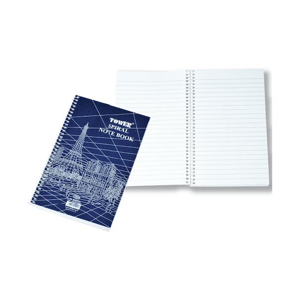 FIS Tower Side Spiral Shorthand Book FSNBTOWER - 205 x 127mm (pkt/10pcs)